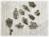 Набор маленьких шармиков (серебр.)