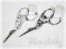 Ножницы-цапельки 9 см черно-белые
