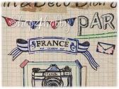 Ткань лен «Дневник»